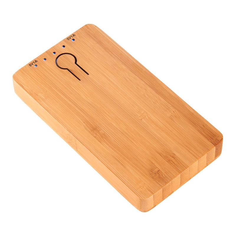 batería externa de bamboo