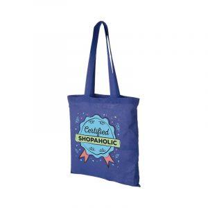 bolsa tote algodon azul