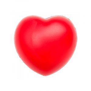 pelota antiestrés con forma de corazón