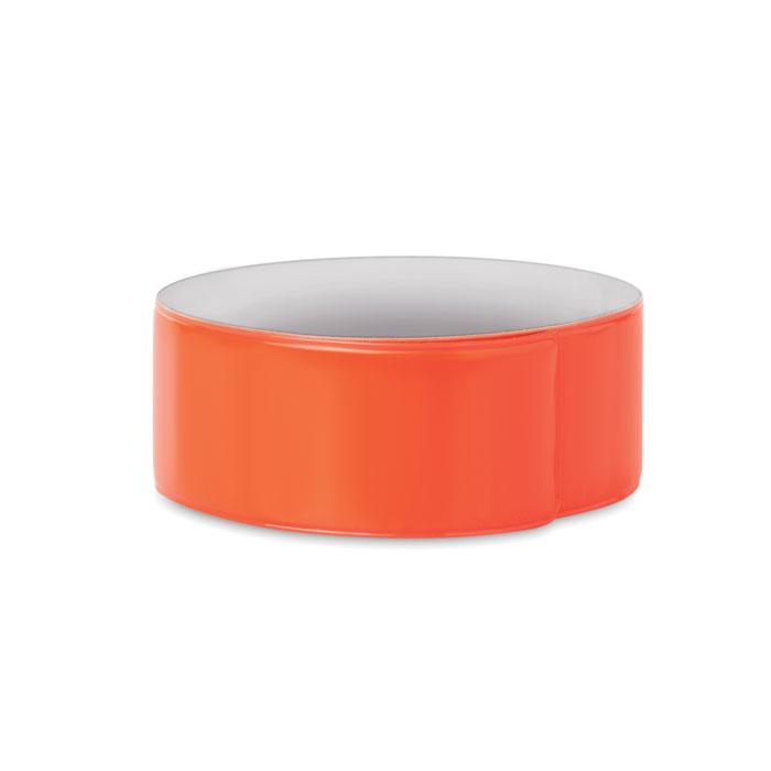 pulsera reflectante naranja 30