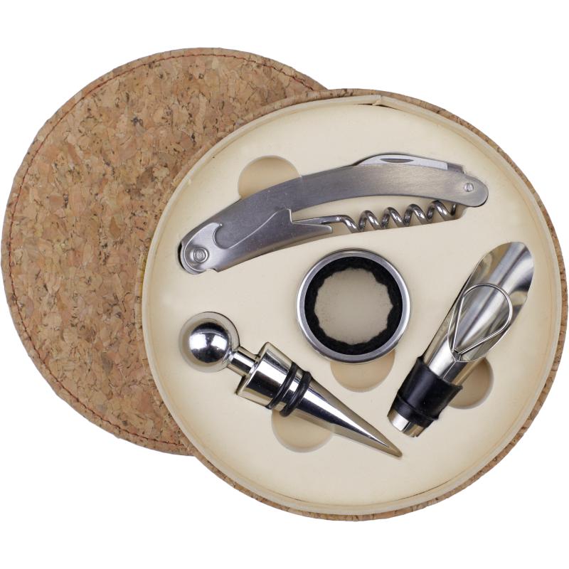 Set de herramientas para vino caja circular