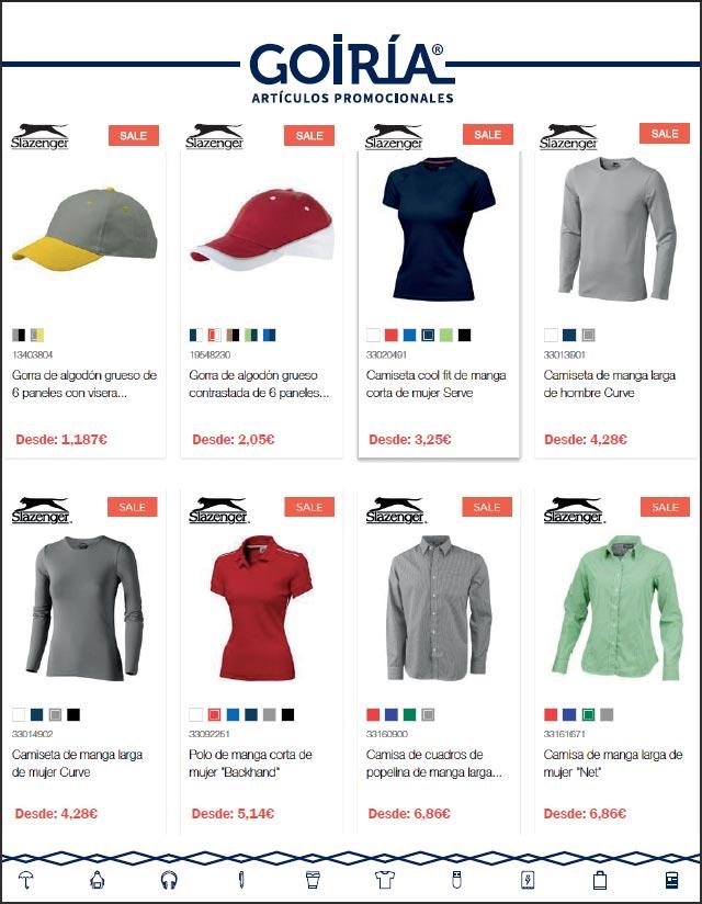 Catálogo ofertas merchandising textil - SLAZENGER