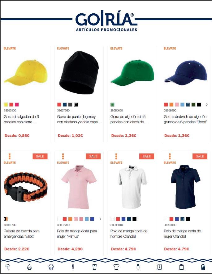 Catálogo ofertas merchandising textil - ELEVATE