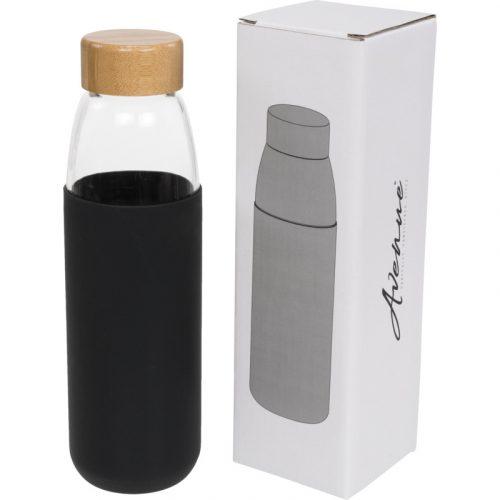 """Botella de vidrio de 540 ml con tapón de madera """"Kai"""""""