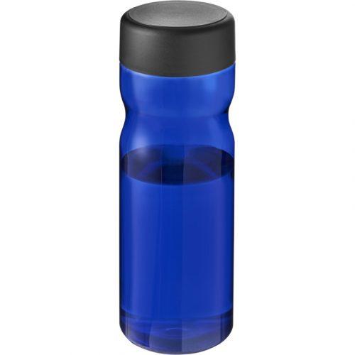 H2O Base Bidón deportivo con tapa de rosca de 650 ml (Modelo azul opaco)