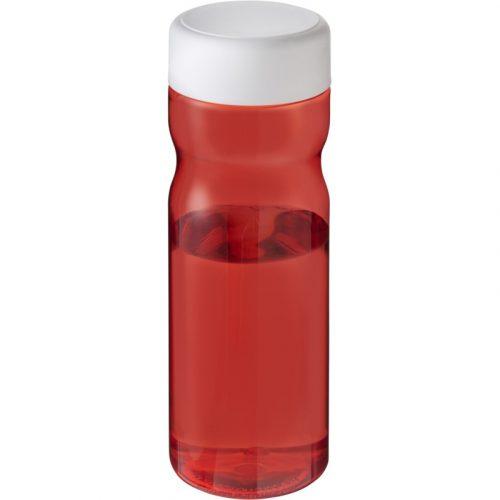H2O Base Bidón deportivo con tapa de rosca de 650 ml (Modelo rojo opaco)