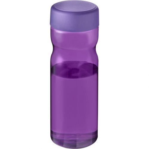 H2O Base Bidón deportivo con tapa de rosca de 650 ml (Modelo morado opaco)