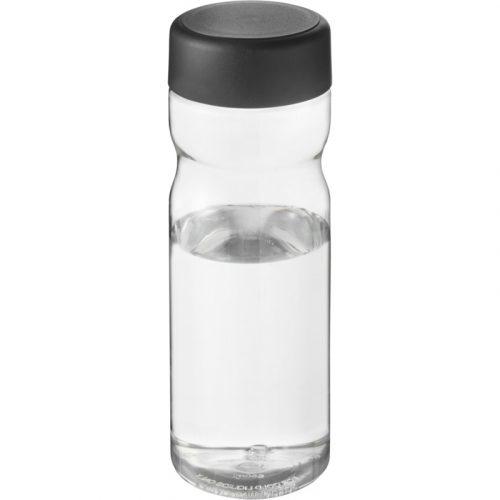 H2O Base Bidón deportivo con tapa de rosca de 650 ml (Modelo transparente)