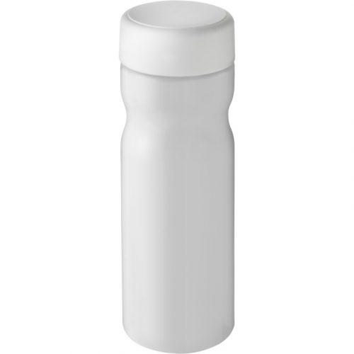 H2O Base Bidón deportivo con tapa de rosca de 650 ml (Modelo blanco)