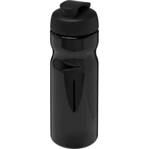 H2O Base® Bidón deportivo con Tapa Flip de 650 ml (Modelo negro)
