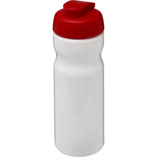 H2O Base® Bidón deportivo con Tapa Flip de 650 ml (Modelo blanco)