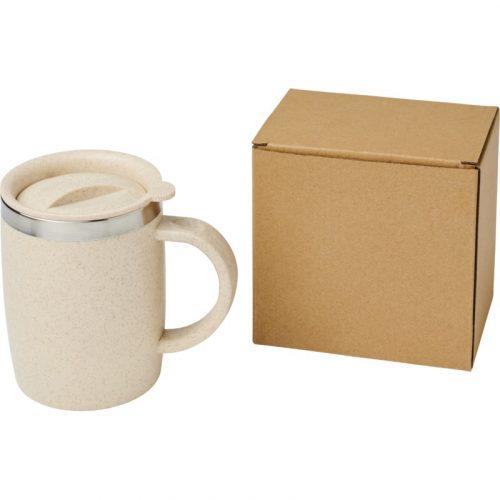 """Taza de 400 ml de paja de trigo con aislamiento """"Wey"""""""