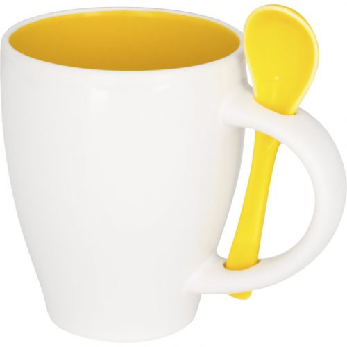 "Taza de cerámica de 250 ml con cuchara ""Nadu"""
