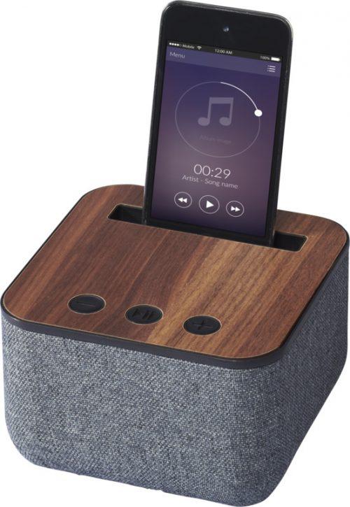"""Altavoz Bluetooth® de madera y tela """"Shae"""""""