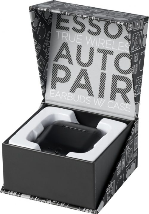 "Auriculares inalámbricos con sincronización automática ""Essos"" caja"