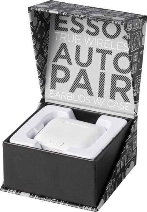 """Auriculares inalámbricos con sincronización automática """"Essos"""" caja blanca"""