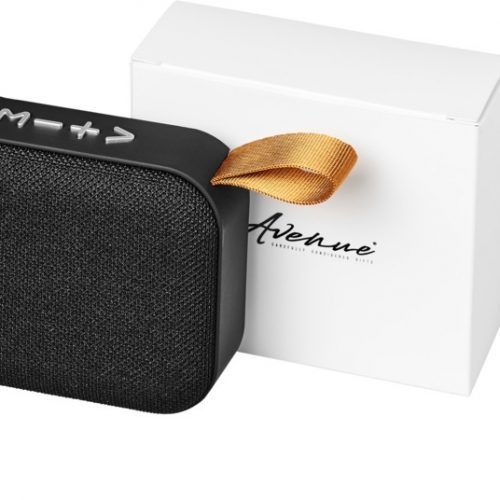 "Altavoz Bluetooth® de tela ""Fashion"" negro"