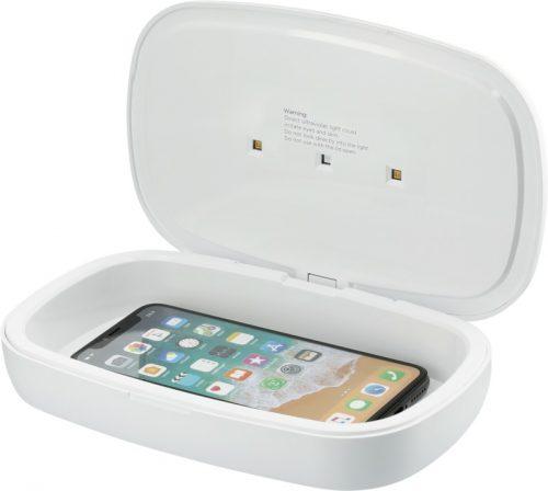 """Desinfectante UV para smartphone con base de carga inalámbrica de 5 W """"Capsule"""""""