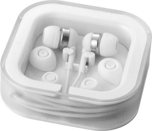 """Auriculares internos con micrófono """"Sargas"""" blanco"""