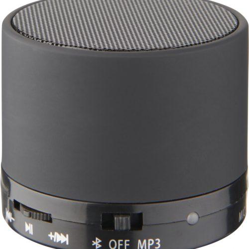 """Altavoz cilíndrico Bluetooth® con acabado de goma """"Duck"""" negro"""