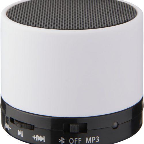 """Altavoz cilíndrico Bluetooth® con acabado de goma """"Duck"""" blanco"""
