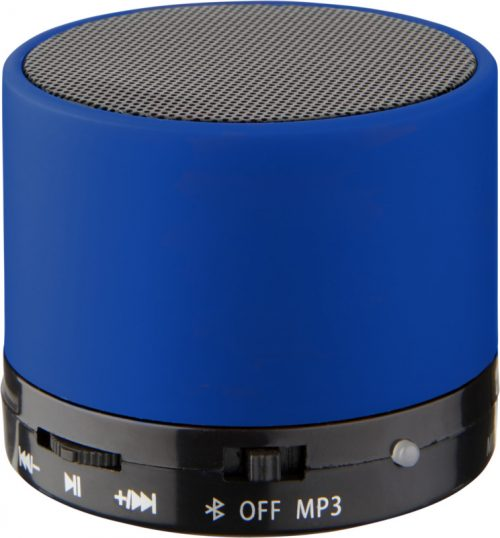 "Altavoz cilíndrico Bluetooth® con acabado de goma ""Duck"" azul"