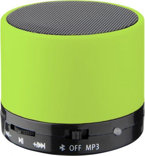 """Altavoz cilíndrico Bluetooth® con acabado de goma """"Duck"""" verde"""