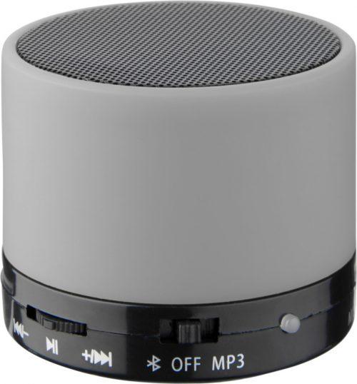 """Altavoz cilíndrico Bluetooth® con acabado de goma """"Duck"""" gris"""