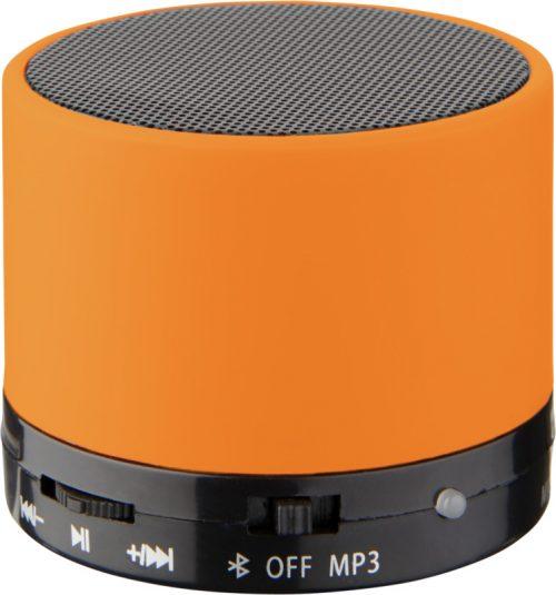 """Altavoz cilíndrico Bluetooth® con acabado de goma """"Duck"""" naranja"""