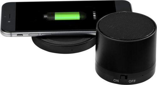 """Altavoz Bluetooth® y base de carga inalámbrica """"Cosmic"""" negro"""