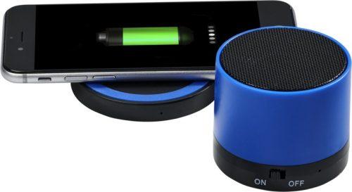 """Altavoz Bluetooth® y base de carga inalámbrica """"Cosmic"""" azul"""