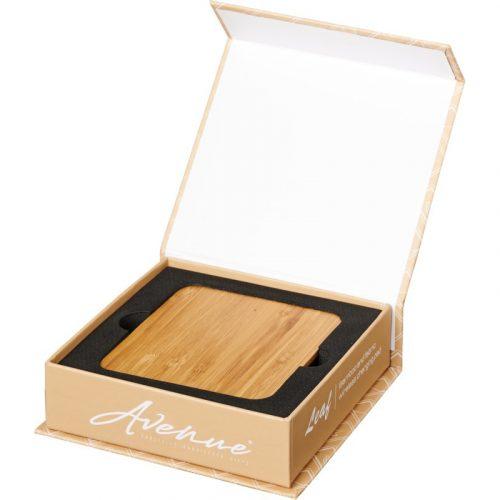 """Base de carga inalámbrica de hojas de bambú y tela """"Leaf"""""""
