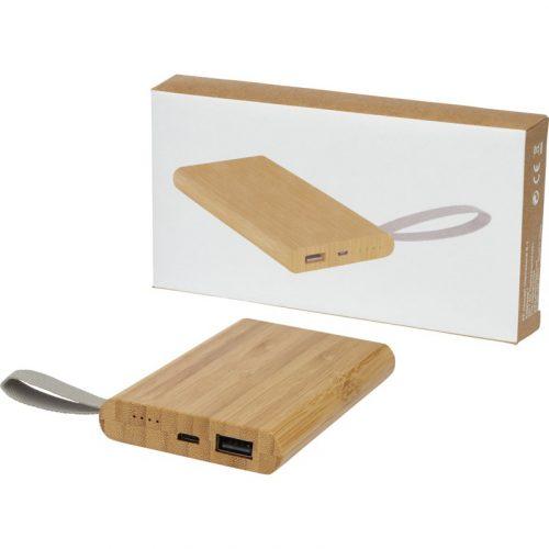 """Batería externa de 5000 mAh de bambú """"Tulda"""""""