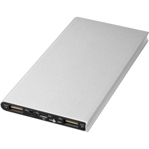 """Batería externa de aluminio de 8000 mAh """"Plate"""""""