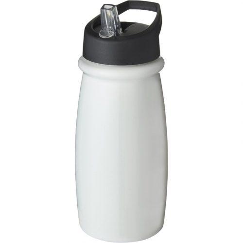H2O Pulse Bidón deportivo con tapa con boquilla de 600 ml (modelo blanco)