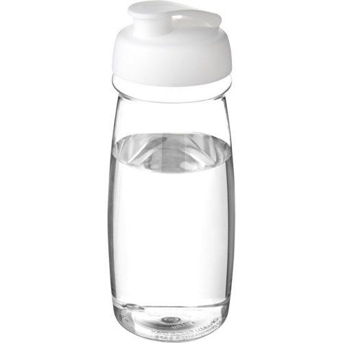 H2O Pulse® Bidón deportivo con Tapa Flip de 600 ml (modelo transparente)