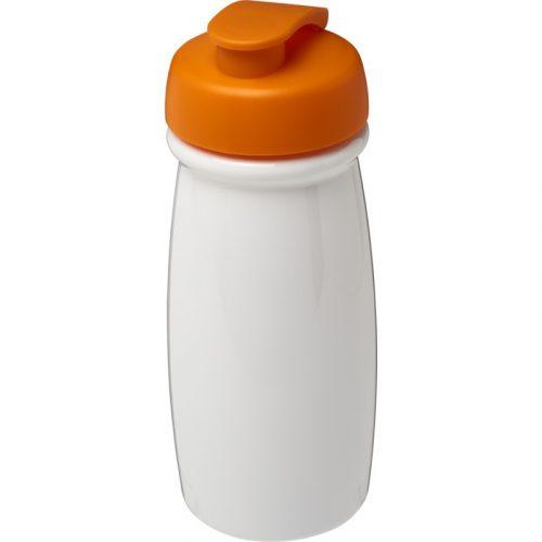 H2O Pulse® Bidón deportivo con Tapa Flip de 600 ml (modelo blanco)
