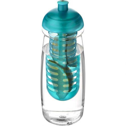H2O Pulse® Bidón deportivo e infusor con Tapa Dome de 600 ml (modelo transparente)