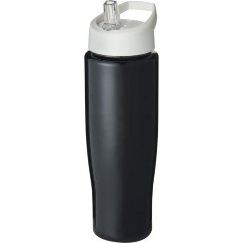 H2O Tempo® Bidón deportivo con tapa con boquilla de 700 ml (color negro)