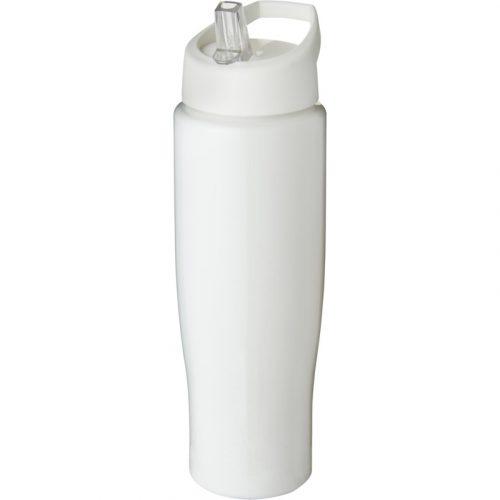 H2O Tempo® Bidón deportivo con tapa con boquilla de 700 ml (color blanco)