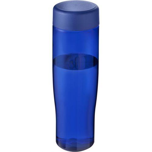 H2O Tempo Bidón deportivo con tapa de rosca de 700 ml (modelo azul)