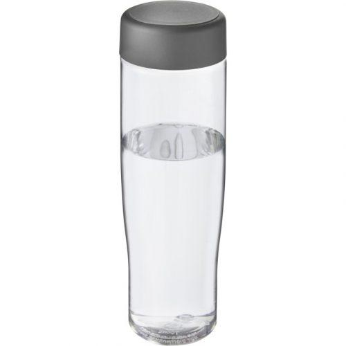 H2O Tempo Bidón deportivo con tapa de rosca de 700 ml (modelo transparente)