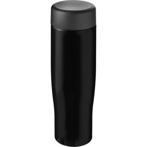 H2O Tempo Bidón deportivo con tapa de rosca de 700 ml (modelo negro)