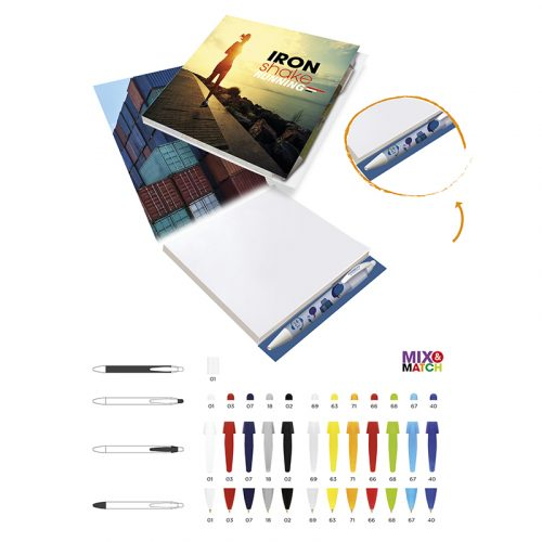 BIC 150 mm x 150 mm 100 Hojas Booklet with Pen Loop - 3460003746