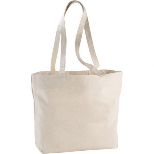 "Bolsa Tote de algodón 320 g/m² con cremallera ""Ningbo"""