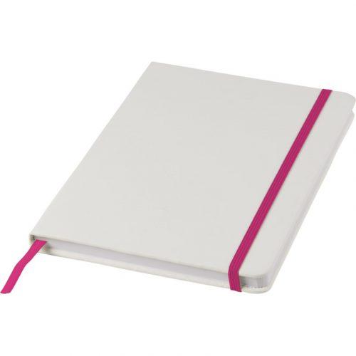 """Libreta A5 blanca con cinta de color """"Spectrum"""""""