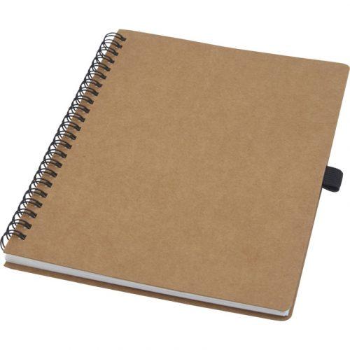 """Libreta de tamaño A5 de cartón reciclado con espiral y papel de piedra """"Cobble"""""""