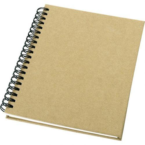 """Libreta espiral de papel reciclado """"Mendel"""""""