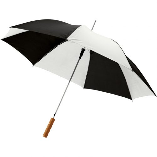"""Paraguas automático con puño de madera de 23"""" """"Lisa"""" (rayas)"""